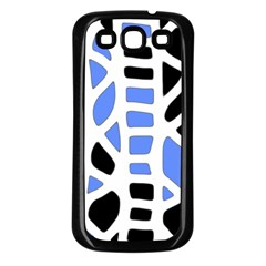 Blue decor Samsung Galaxy S3 Back Case (Black)
