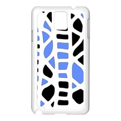 Blue decor Samsung Galaxy Note 3 N9005 Case (White)