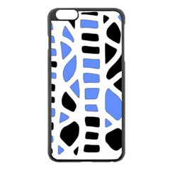 Blue decor Apple iPhone 6 Plus/6S Plus Black Enamel Case