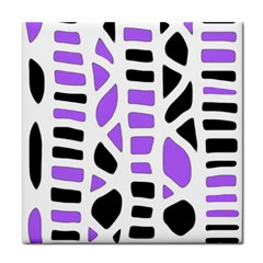 Purple abstract decor Tile Coasters