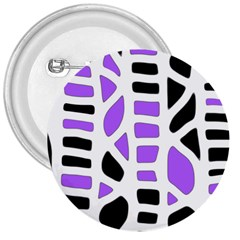 Purple abstract decor 3  Buttons