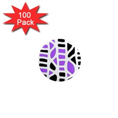 Purple abstract decor 1  Mini Magnets (100 pack)