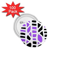 Purple abstract decor 1.75  Buttons (100 pack)