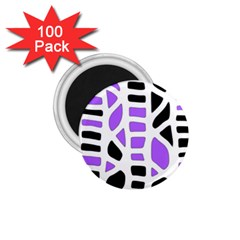 Purple abstract decor 1.75  Magnets (100 pack)