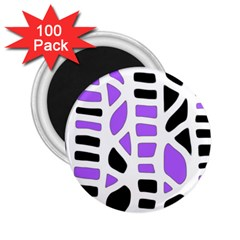 Purple abstract decor 2.25  Magnets (100 pack)
