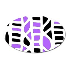 Purple abstract decor Oval Magnet