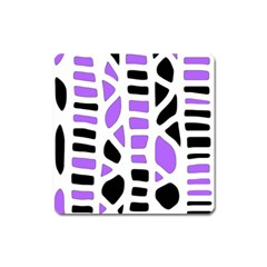 Purple abstract decor Square Magnet