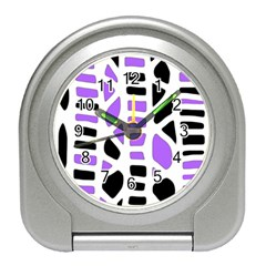Purple abstract decor Travel Alarm Clocks