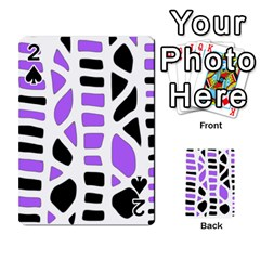 Purple abstract decor Playing Cards 54 Designs