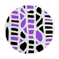 Purple abstract decor Round Ornament (Two Sides)