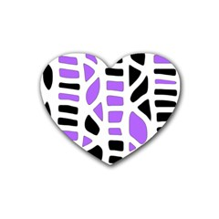 Purple abstract decor Heart Coaster (4 pack)