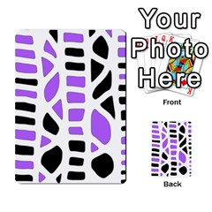 Purple abstract decor Multi-purpose Cards (Rectangle)