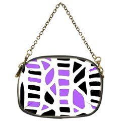 Purple abstract decor Chain Purses (One Side)