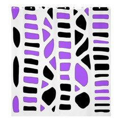 Purple abstract decor Shower Curtain 66  x 72  (Large)