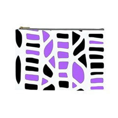 Purple abstract decor Cosmetic Bag (Large)