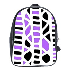 Purple abstract decor School Bags(Large)