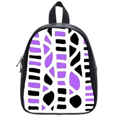 Purple abstract decor School Bags (Small)
