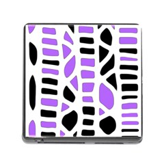 Purple abstract decor Memory Card Reader (Square)