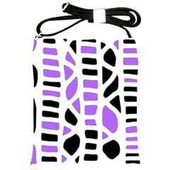 Purple abstract decor Shoulder Sling Bags