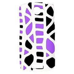 Purple abstract decor HTC One S Hardshell Case