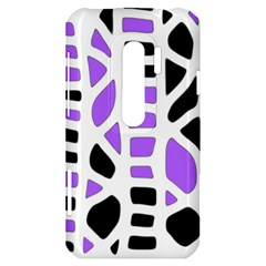 Purple abstract decor HTC Evo 3D Hardshell Case
