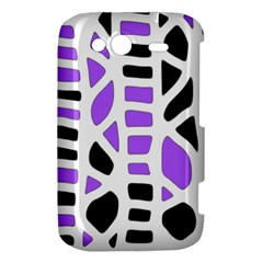 Purple abstract decor HTC Wildfire S A510e Hardshell Case
