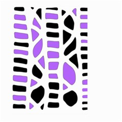 Purple abstract decor Large Garden Flag (Two Sides)