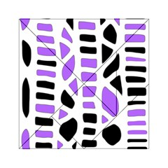 Purple abstract decor Acrylic Tangram Puzzle (6  x 6 )