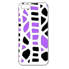 Purple abstract decor Apple Seamless iPhone 5 Case (Clear)