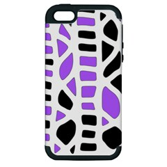Purple abstract decor Apple iPhone 5 Hardshell Case (PC+Silicone)