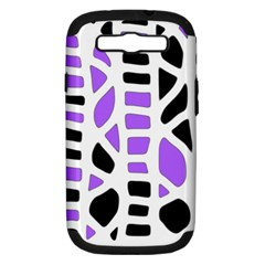 Purple abstract decor Samsung Galaxy S III Hardshell Case (PC+Silicone)