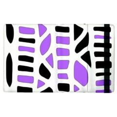 Purple abstract decor Apple iPad 3/4 Flip Case
