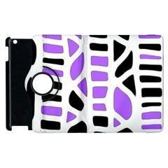Purple abstract decor Apple iPad 3/4 Flip 360 Case