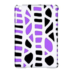 Purple abstract decor Apple iPad Mini Hardshell Case (Compatible with Smart Cover)