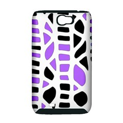 Purple abstract decor Samsung Galaxy Note 2 Hardshell Case (PC+Silicone)