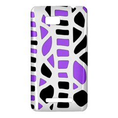Purple abstract decor HTC One SU T528W Hardshell Case