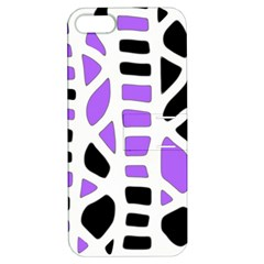 Purple abstract decor Apple iPhone 5 Hardshell Case with Stand