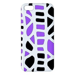 Purple abstract decor Apple iPhone 5 Premium Hardshell Case