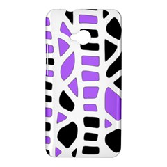 Purple abstract decor HTC One M7 Hardshell Case