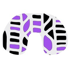 Purple abstract decor Travel Neck Pillows