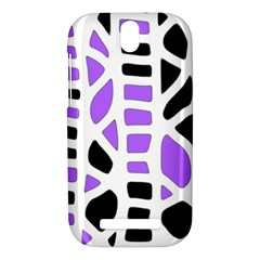 Purple abstract decor HTC One SV Hardshell Case