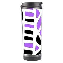 Purple abstract decor Travel Tumbler