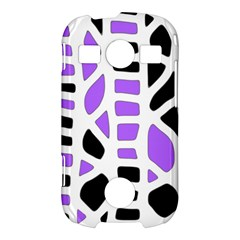 Purple abstract decor Samsung Galaxy S7710 Xcover 2 Hardshell Case
