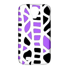 Purple abstract decor Samsung Galaxy S4 Classic Hardshell Case (PC+Silicone)