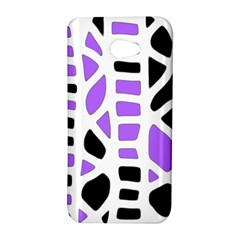 Purple abstract decor HTC Butterfly S/HTC 9060 Hardshell Case