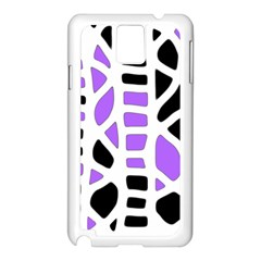 Purple abstract decor Samsung Galaxy Note 3 N9005 Case (White)