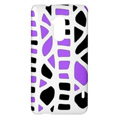 Purple abstract decor HTC One Max (T6) Hardshell Case