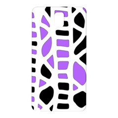 Purple abstract decor Samsung Galaxy Note 3 N9005 Hardshell Back Case