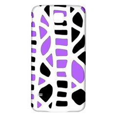 Purple abstract decor Samsung Galaxy S5 Back Case (White)