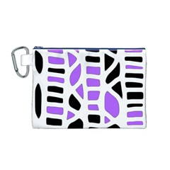 Purple abstract decor Canvas Cosmetic Bag (M)